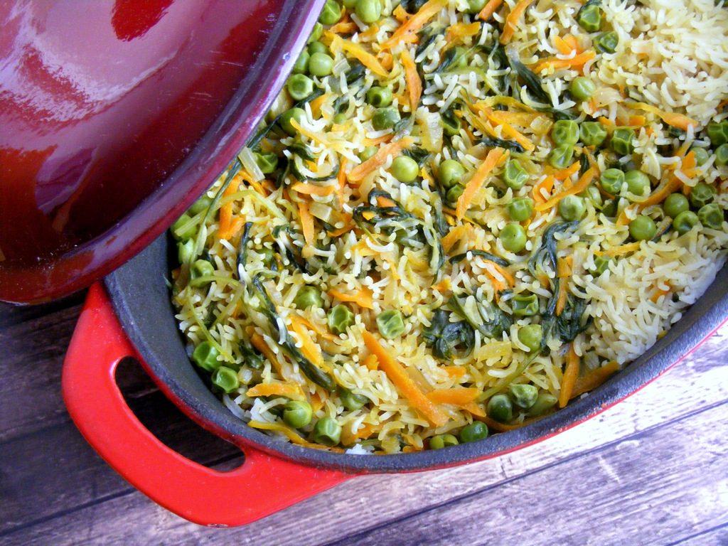 אורז אביבי עם ירקות