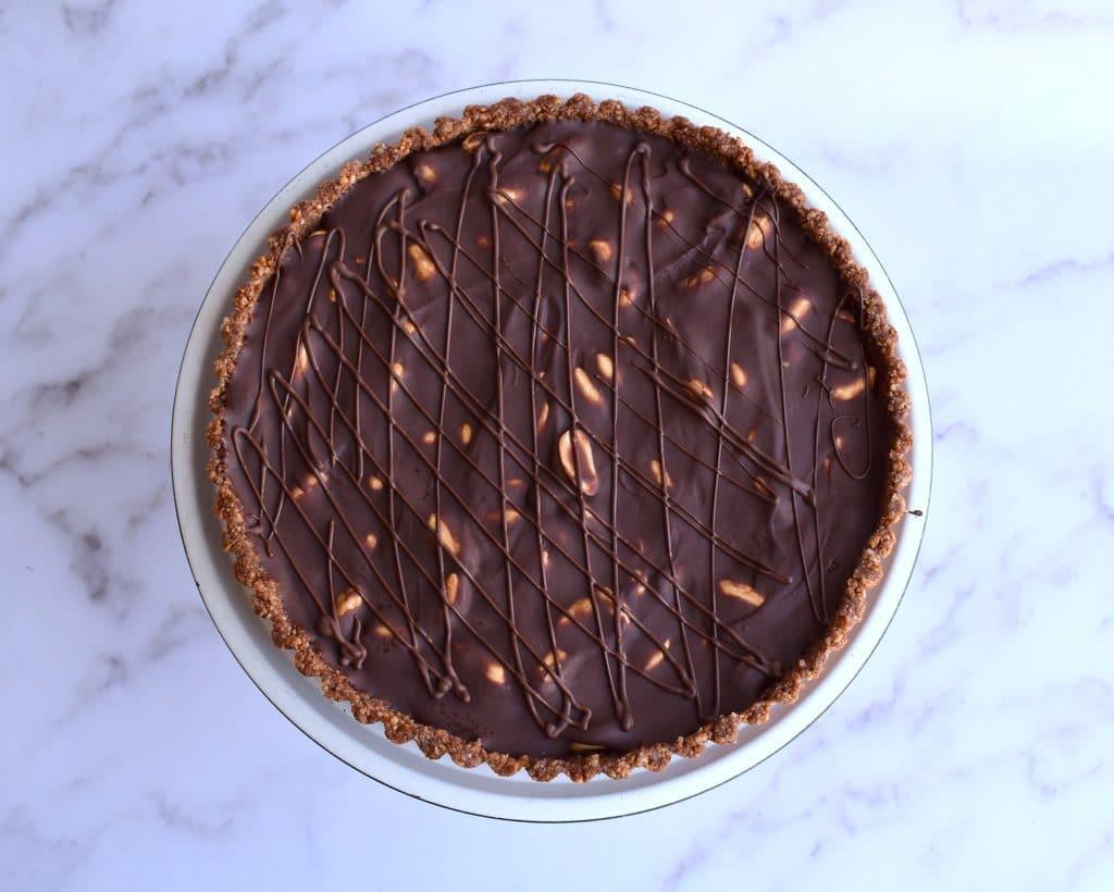 פאי בוטנים ושוקולד ללא אפייה וממש קל להכנה
