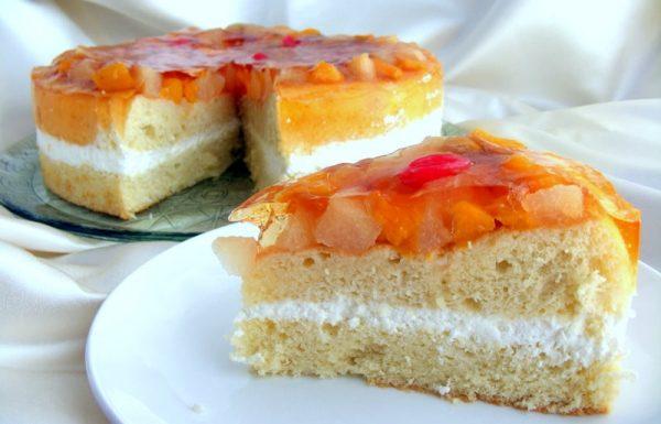 עוגת טורט עם קצפת פירות וג'לי מתכון נוסטלגי מהקיבוץ
