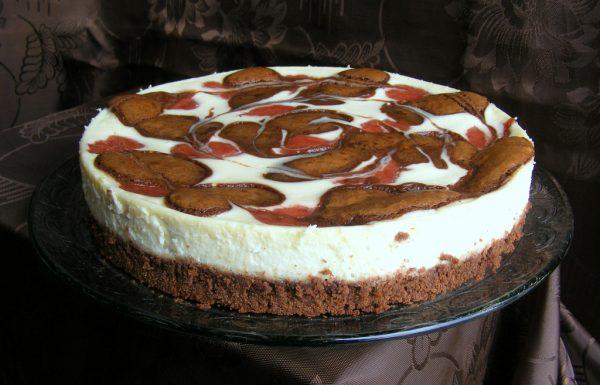 עוגת בראוניז תות גבינה