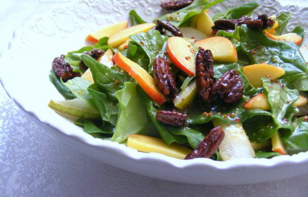 סלט תרד ופירות