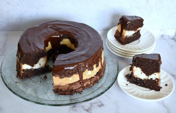 עוגת שיש שוקולד קוקוס פרווה