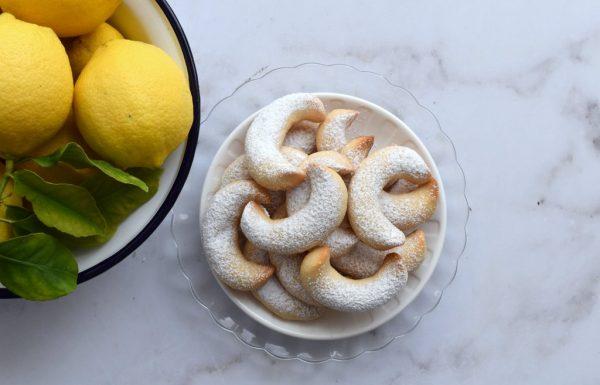 סהרוני שקדים ולימון. עוגיות לימוניות נהדרות
