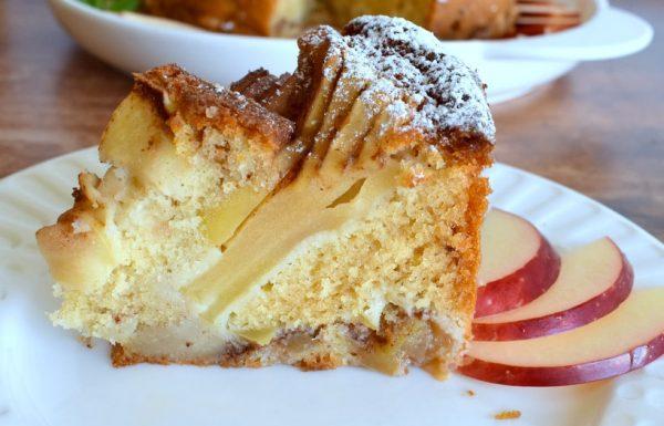 עוגת תפוחים טורט אוורירי גבוה וטעים