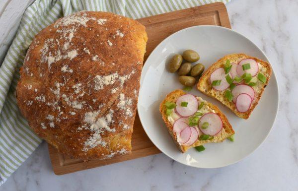לחם בטטה ואורגנו ללא לישה