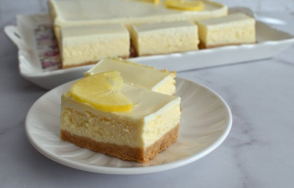 ריבועי עוגת גבינה לימונית