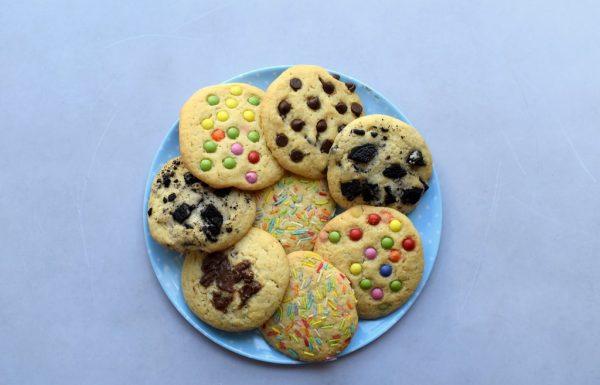 עוגיות ענק 5 סוגים מבצק אחד
