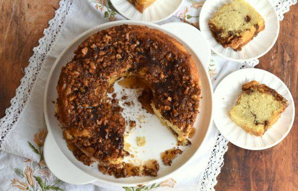 עוגת מייפל אגוזים וקינמון