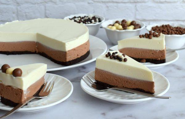 עוגת גבינה ושוקולד ללא אפייה