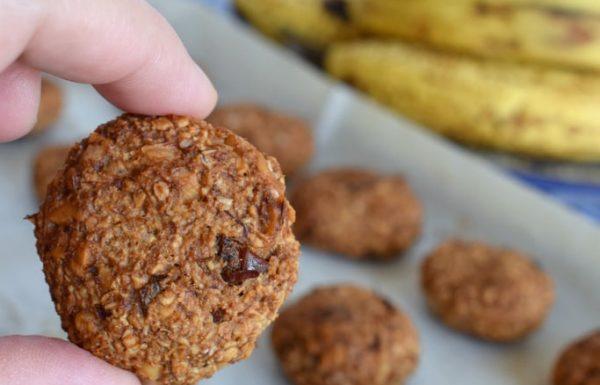 עוגיות בננה עם שיבולת שועל עוגיות בריאות ללא תוספת סוכר